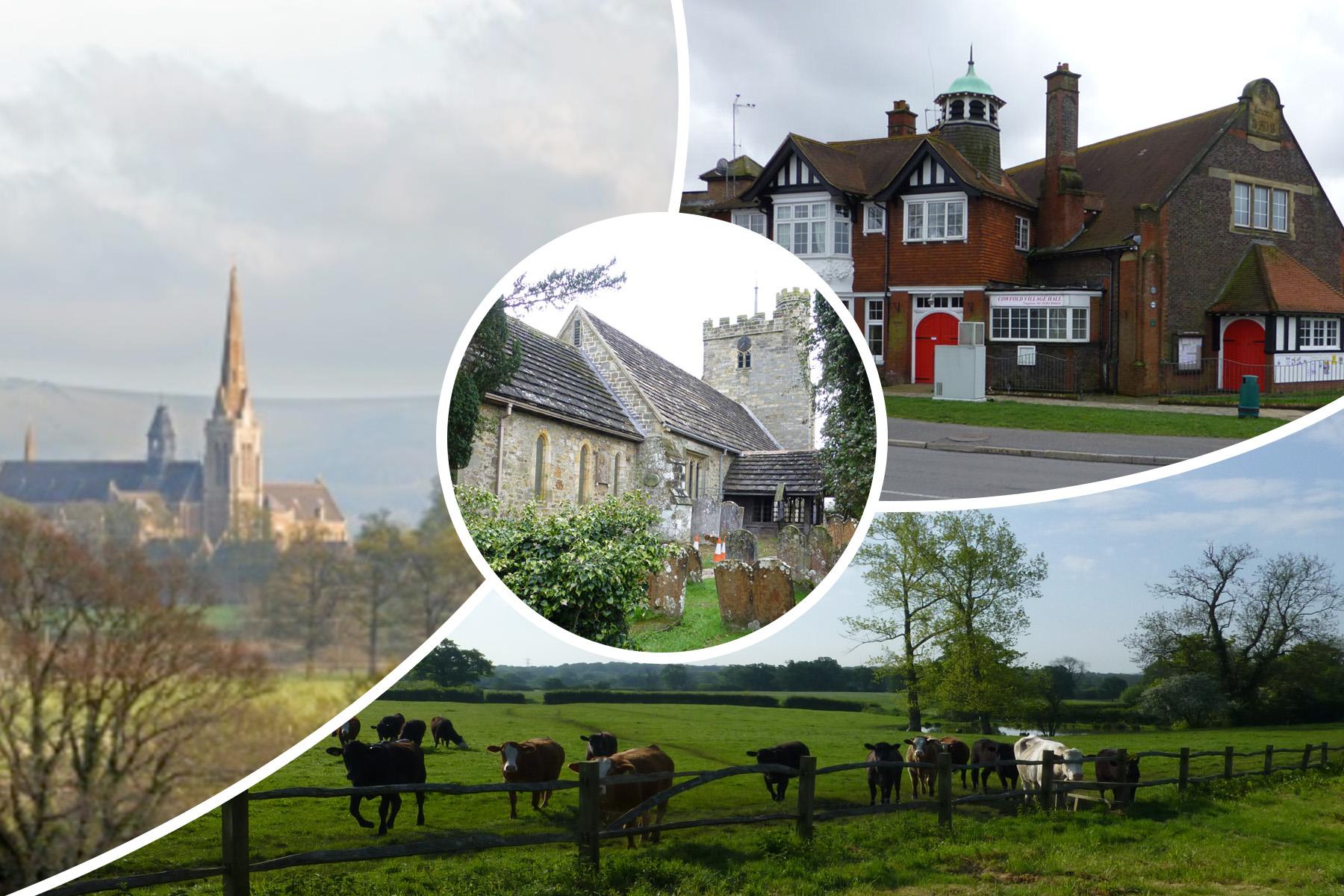 Collage of Village Scenes