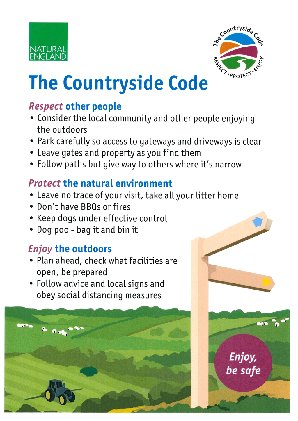 The Countryside Code Poster