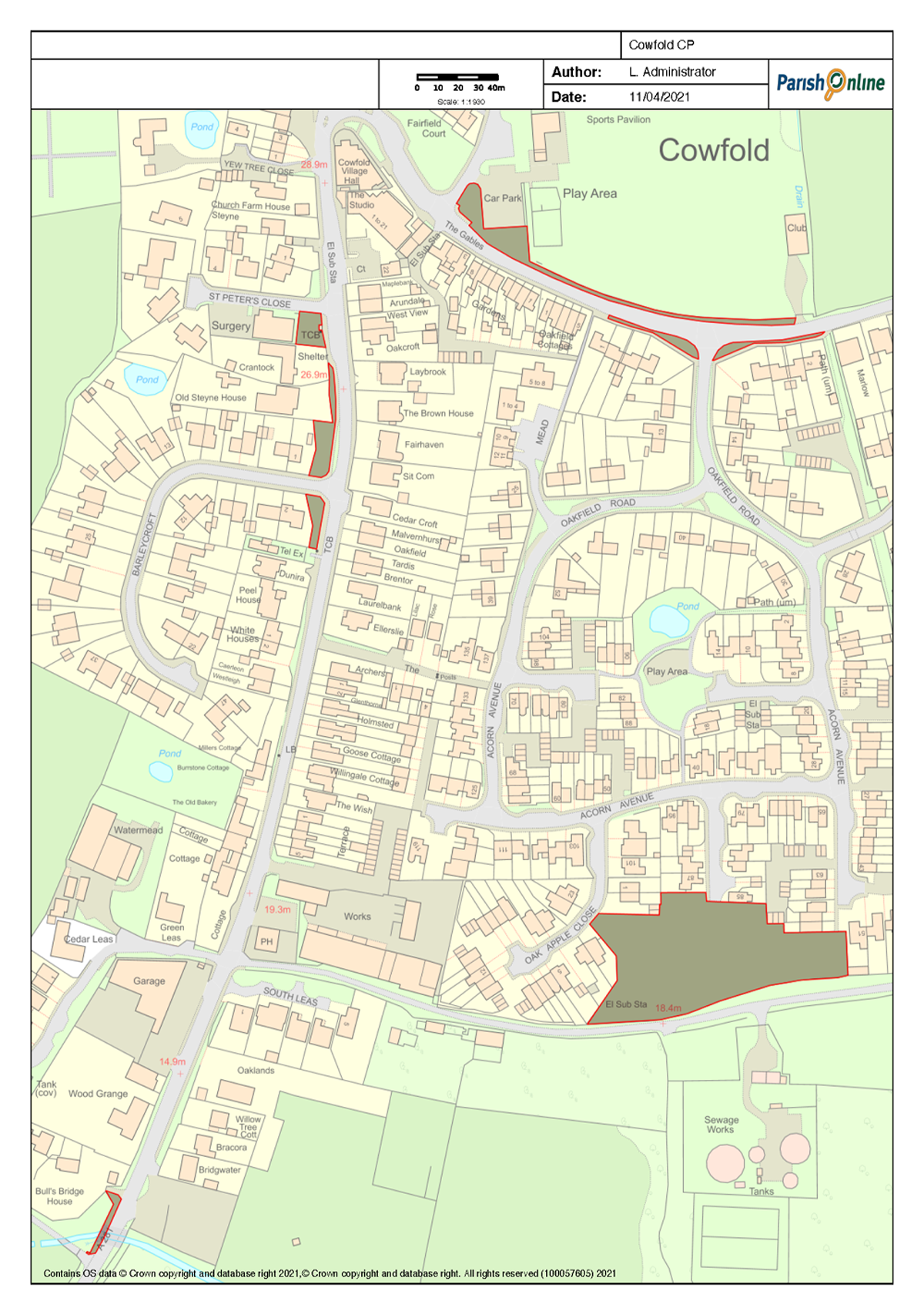 Proposed No Mow Areas (South)