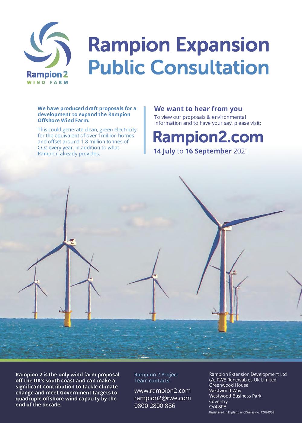 Rampion 2 Public Consultation Press Release