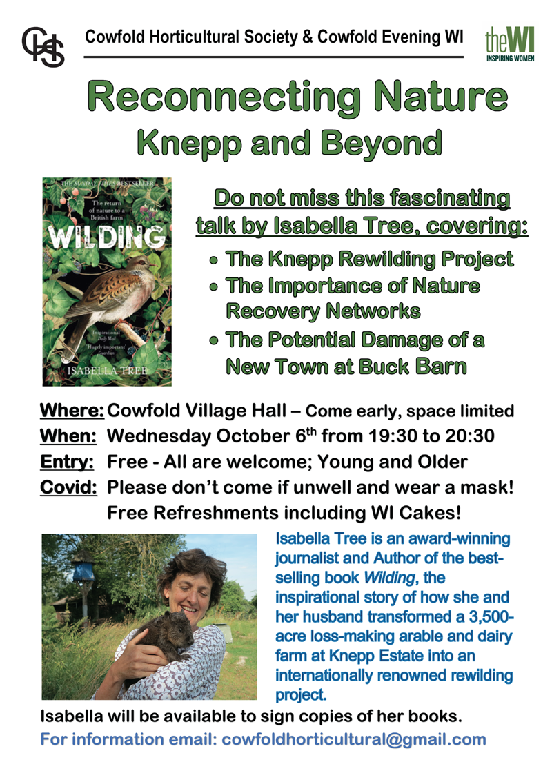 Poster for Reconnecting Nature talk